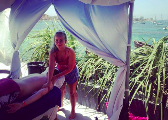 Jamie Massage Beach Ibiza