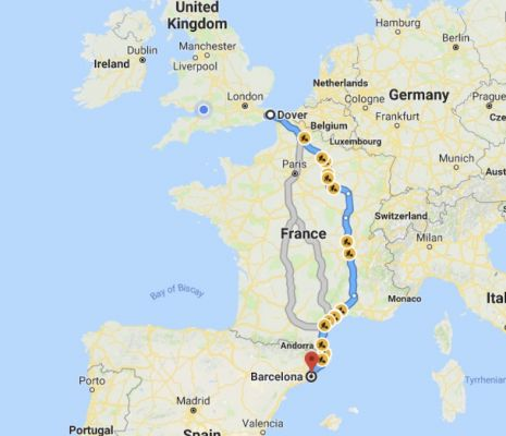 Dover to Barcelona to Ibiza