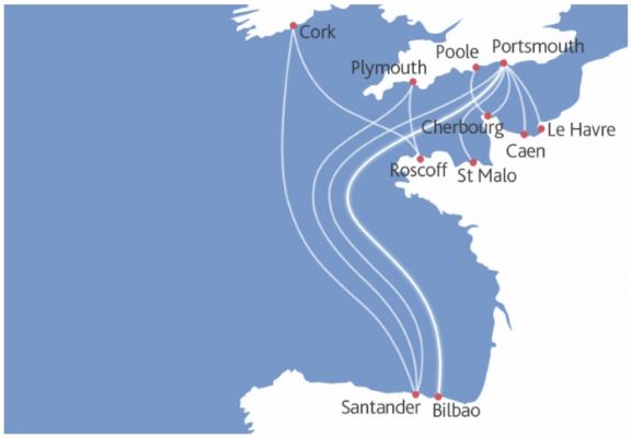 UK to France or Spain ferry routes